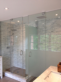Shower Glass with Half Panel