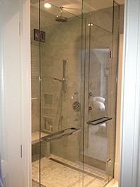 Two Panels and Door Shower Glass