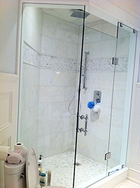 Panel and Door Shower Glass