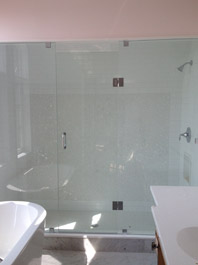 Glass Panel and Glass Door with Notch