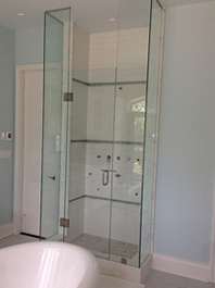 Stream Shower Glass
