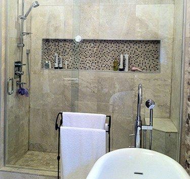 Sliding shower glass