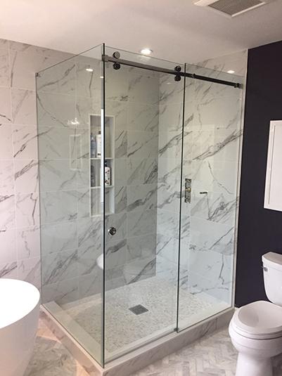 Corner Slider Shower glass encloure
