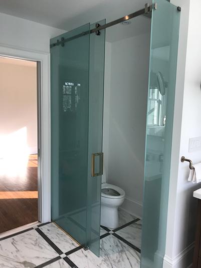 Serenity Slider shower glass