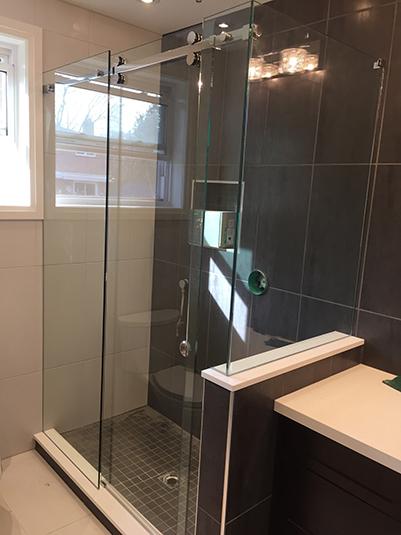 Slider Shower Glass