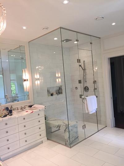 U Channel Shower glass