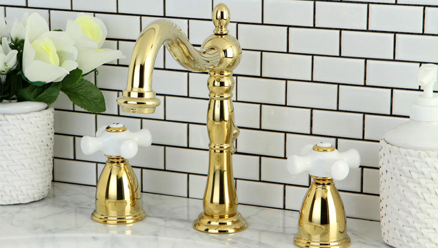 Polished brass – bathroom hardware