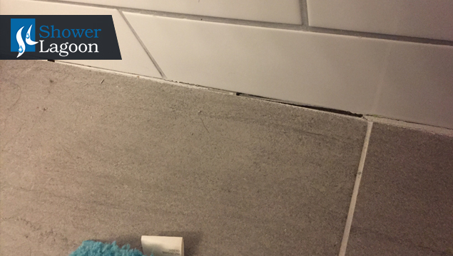 Missing grout among tiles