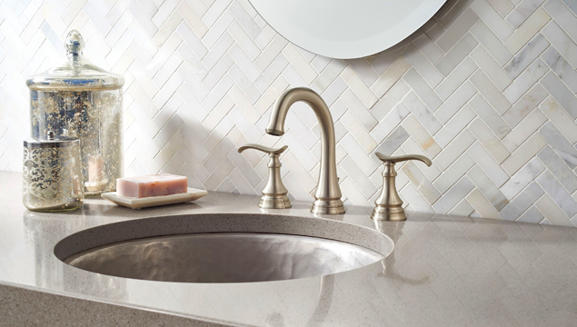 Brushed nickel – bathroom hardware