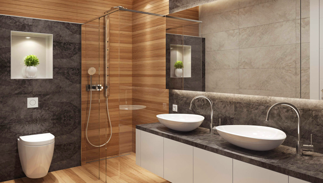 Chrome finish – bathroom hardware