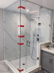 Corner Custom Shower Glass Enclosure sm