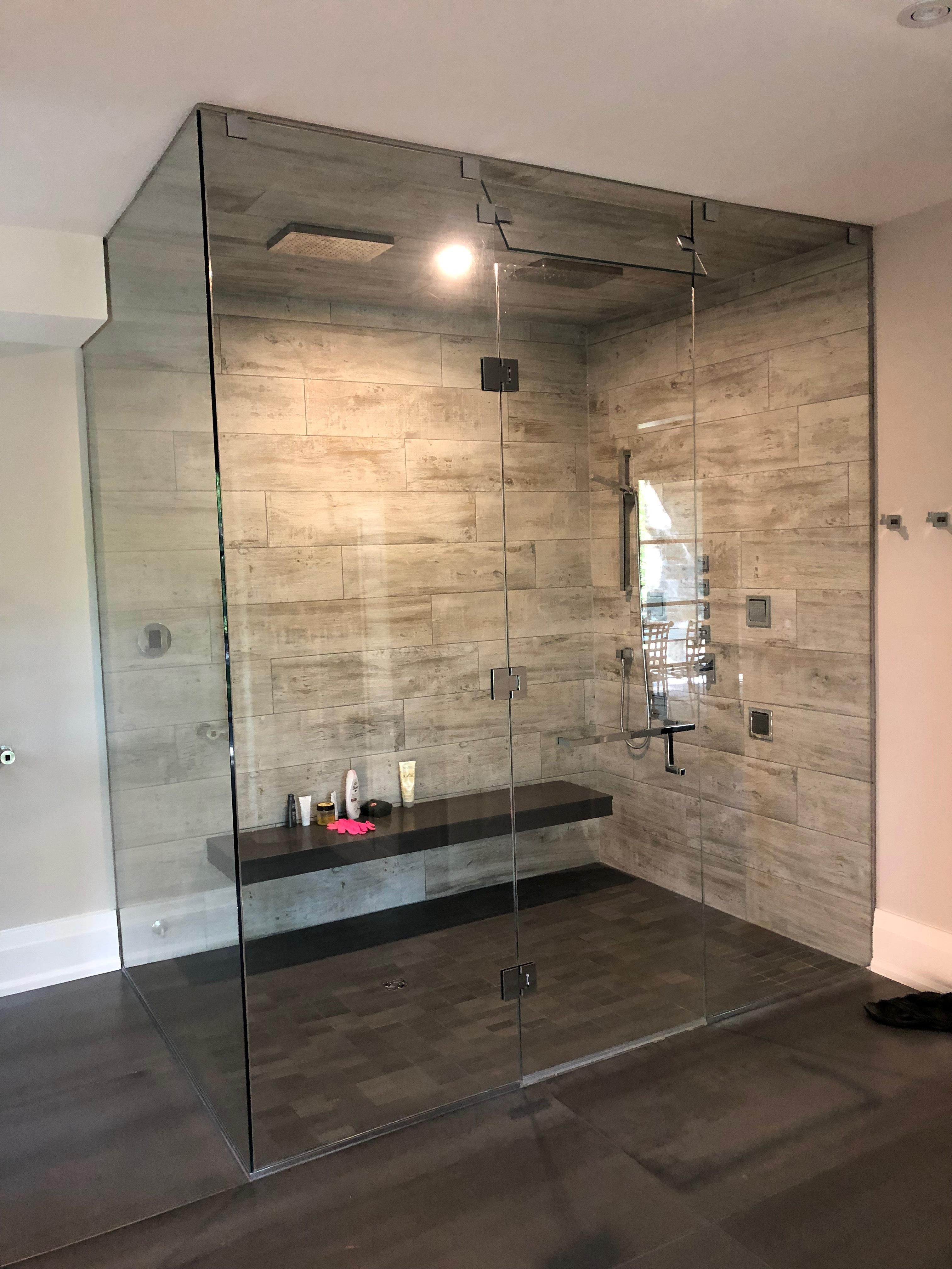 Corner Steam Shower Glass