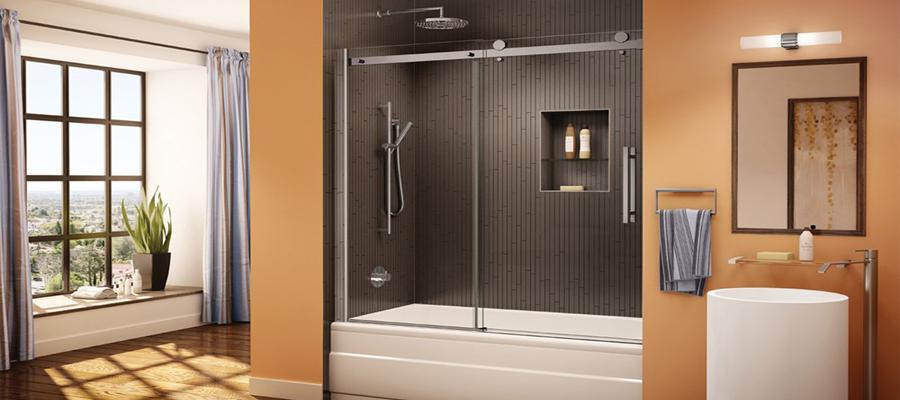 Glass bathtub enclosure