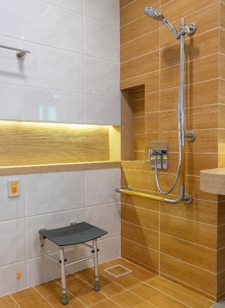 Walk-In Showers Grab Bars