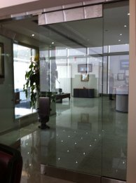 Glass Partition And Entrance