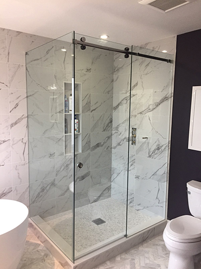 Corner Slider Shower glass encloure