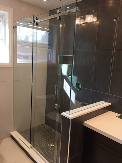 Slider Shower Glass