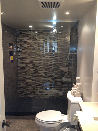 Walk In Shower Glass With Half Panel