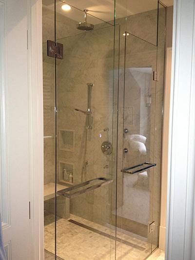 Custom Inline Shower Glass