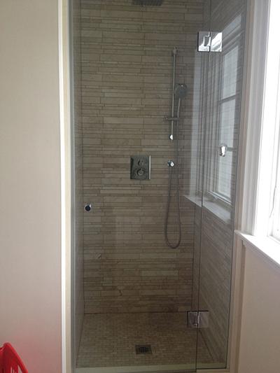 Panel And Door Shower Glass