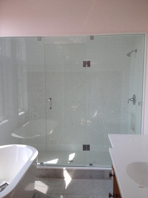 Two Panels And Door Shower