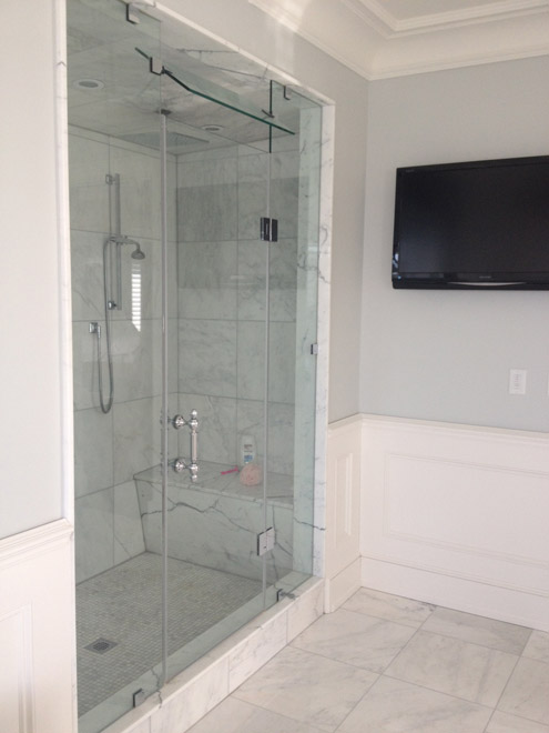 Steam Shower Glass With Transom On Top