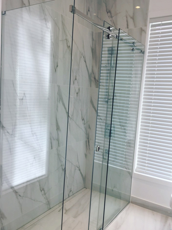 Corner Sliding System shower glass enclosure