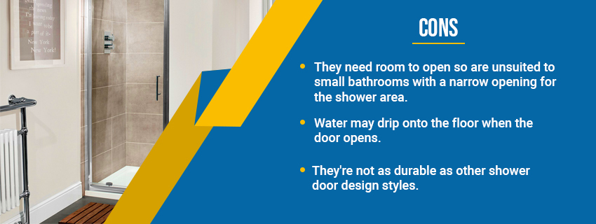 Pivot Glass Shower Door - Cons