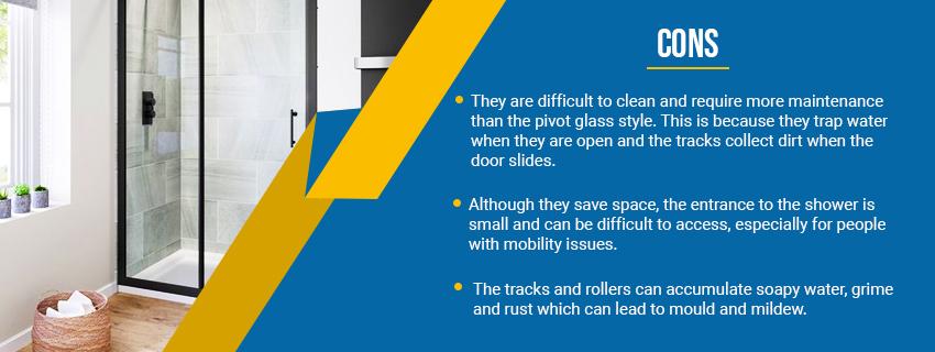 Sliding Glass Shower Door-Cons